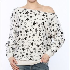 Minnie Rose Off Shoulder Sweatshirt
